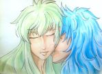 The Kissing Session: Degel and Kardia by 6cartercharlie6