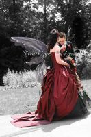 Goth wings wedding dress 5 by silverhippo