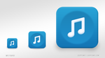 mp3Player - iPhone Mp3 Downloader App Icon by uuryilmaz