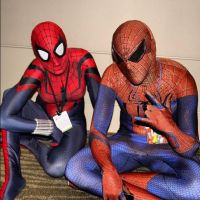 SpiderMan and SpiderGirl by burningdreams76