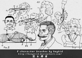 8 character brushes by heykid by heeykiid