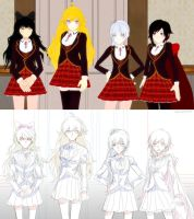 Anime rendition of RWBY by IMAKINATION
