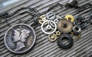 """Gear Necklace """"Thirty"""" by AMechanicalMind"""