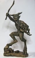 Krampus Statue by DellamorteCo