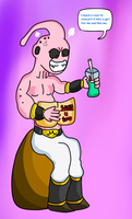 Buu is getting excited by DarkraDx
