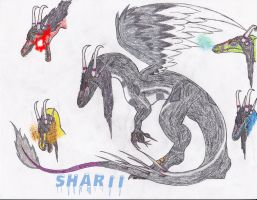 Commission #2 - Sharii The Emotional Chameleon by BurningG-HellOnEarth