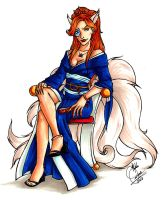 Kitsune Fox by y2hecate