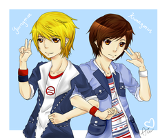 Boyfriend: Jo Twins by rubysama