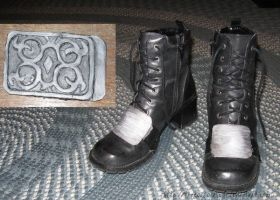 Squall Buckle and Rinoa Boots by TheRootOfAllEvil