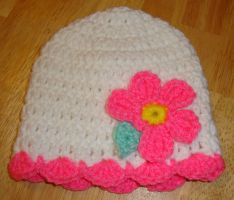Newborn Flower Hat by Crochet-by-Clarissa