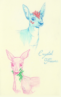 more crystal fawns by foxery