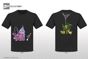 T-Shirt pinky snail and bunny by sara-nmt