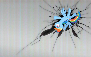 Rainbow Dash wallpaper - cracked the screen by nestordc