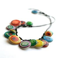 Color's swirl necklace by BeautySpotCrafts
