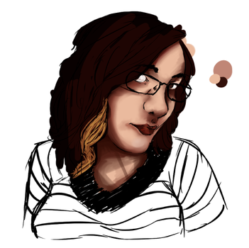 WIP self portrait by Anisette-Star