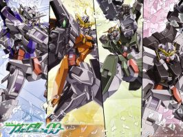 Gundam 00 - wallpaper by nibelwolf