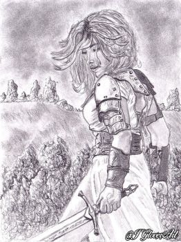 My Father's Sword - Leaves of Hellebore - Sketch by JGloverArt