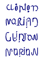 Clinton-Marian Ambigrams by Henry-Crun