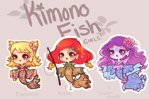 KimonoFish Batch# 2! (#3 is up for sale again) by Getanimated
