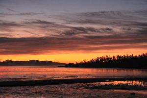 vancouver island sunrise by BCMountainClimber