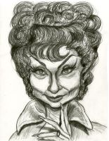 Agnes Moorehead as Endora (Bewitched) by Caricature80