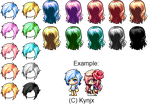 Maplestory mixed hair giveaway by Kynjx