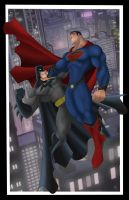 Superman Vs Batman by Helmsberg