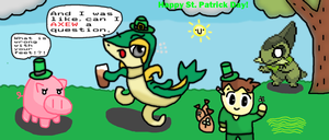 Happy saint snivy day by thegamingdrawer