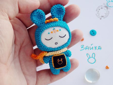 Bunny The Space Traveller by theAmigurumer