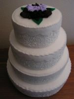 Plush 4 Tiered Wedding Cake by pinktoque