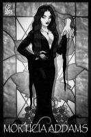 Morticia Addams by Cahnartist