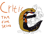 Critic the Fire skink by scarthedragon