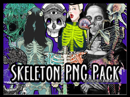 PNG Pack Skeletons and Such by silklungs
