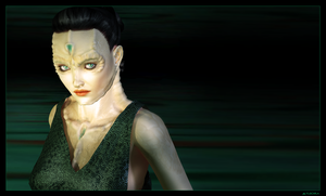 Cardassian Lady in Green by mylochka