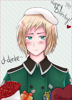 APH: Happy Birthday, Vash! by Jaskierka