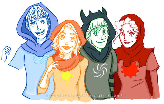 The Big Four as the Beta Kids by justixoxo