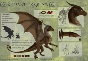 Thaxll'ssillya reference sheet by Naseilen
