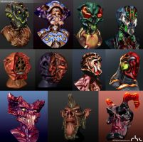 Various 3d quick models 2015 by rbl3d