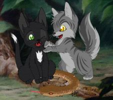 You caught an adder Ravenpaw by Yolly-anda