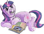 twilight loves to read by applebeans