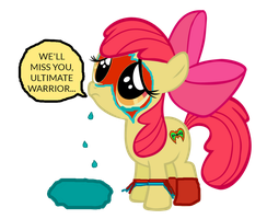 Applebloom mourns Ultimate Warrior's death by ThunderFists1988