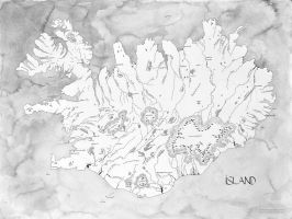 Iceland, hand drawn. by chashio
