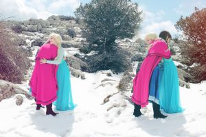 Together forever Elsa and Anna Frozen cosplay by MissWeirdCat