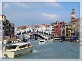 Rialto Bridge, Venice by maska13