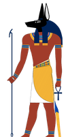 Anubis standing Colors by Writer-Colorer