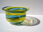 Green and Yellow Bowl by paperfetish