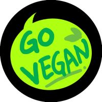 Go vegan button design by walaoeeee