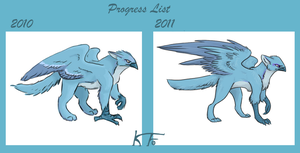 Progress List 2010 - 2011 by KrimalFancey