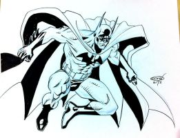 Batman jumping ink by ScottCohn