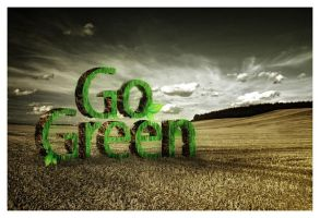 Let's GO GREEN by sawung-cool